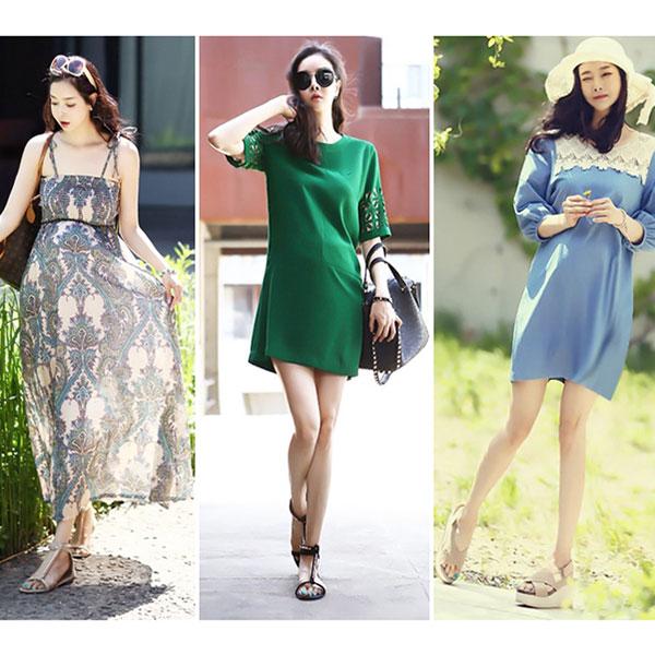 Đầm bầu đẹp mùa hè